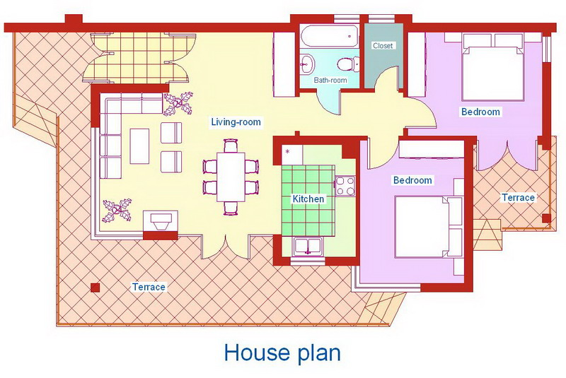 Outstanding Modern 2 Bedroom House Plan 800 x 535 · 118 kB · jpeg