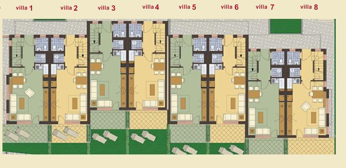 Fully furnished 2 bedroom semi detached house with sea view for 2 bedroom semi detached house plans